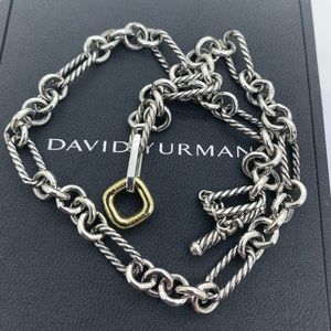 David Yurman 925 18kt Gold Necklace 15 Inches Long